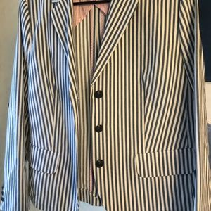 Striped Heavy Linen Blazer Brooks Brothers